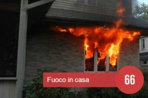 sognare fuoco in casa