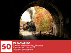sognare un treno in galleria
