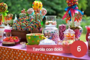sognare una tavola apparecchiata con dolci